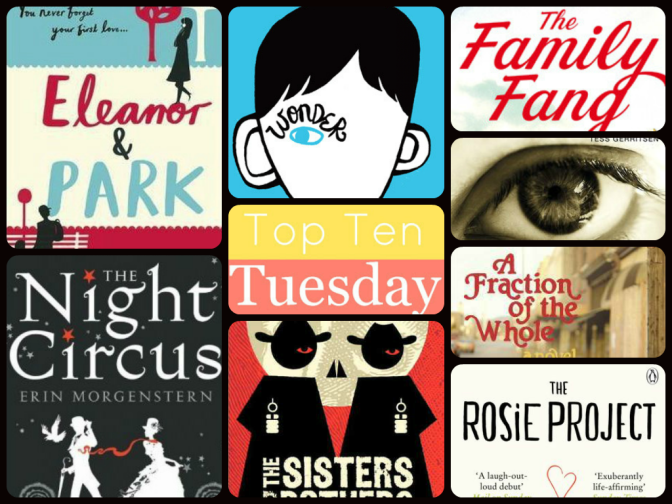 Top Ten Tuesday: Authors only read once